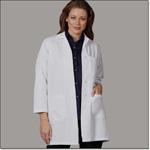 Ladies White 65/35 FFP Lab Coat Sk (N)-