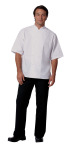 Mens White P/C POP SS Bistro Shirt-
