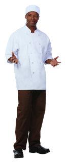 Unisex White FLT SS Chef Coat/Mesh Back