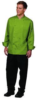 Unisex Basil Poly/Rec Poly/Ctn Chef Coat