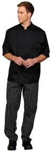 Unisex Black SS Chef Coat/Mesh Back
