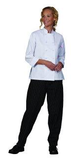 Ladies White 100C 3/4 Sleeve Chef Coat