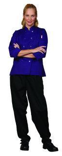 Ladies Purple Twl Chef Coat