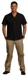 Mens Black Whisper Wv SS Camp Shirt-