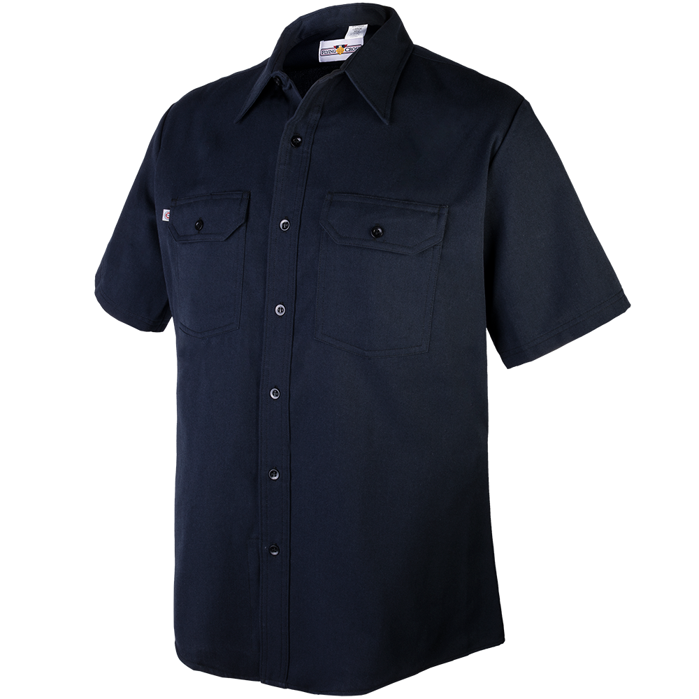Cross FR Men's Short Sleeve Station Wear Shirt -Flying Cross