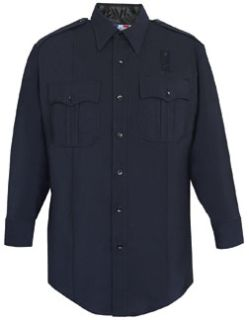Mens LAPD Navy Long Sleeve Shirt, Zippered Front, 75/24/1 Polyester/Wool/Lycra-