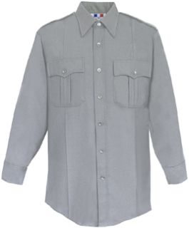 Womens Heather Grey Long Sleeve Deluxe Tactical Shirt 68/30/2 Poly/Rayon/Lycra®;-