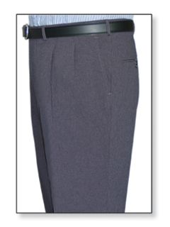 Mens Double Pleated Clerk Trouser Heather Grey-Flying Cross
