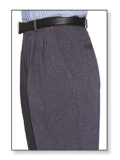 Womens Clerk Slacks Heather Grey Double Pleats-Flying Cross