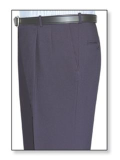 Mens Double Pleated Clerk Trouser Navy Blue-