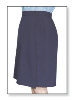 Postal Womens Clerk Skort Navy Blue-