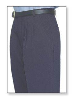 Postal Womens Clerk Slacks Double Pleats Navy Blue-Flying Cross