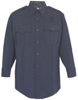 Womens LAPD Navy Long Sleeve Shirt, 75/25 Polyester/Wool-