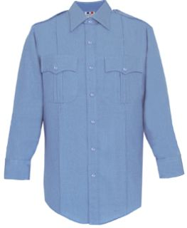 Womens Marine Blue Long Sleeve 65/35 Poly/Cotton Duro Poplin Shirt-