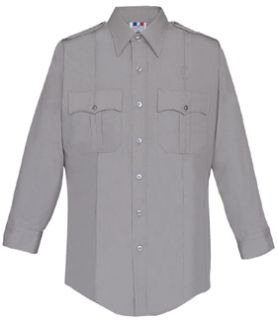 Womens Silver Grey Long Sleeve 65/35 Poly/Cotton Duro Poplin Shirt-