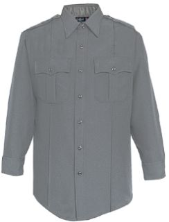 Womens Grey Tall Long Sleeve 100% Visa®; System 3 Polyester Shirt-Flying Cross