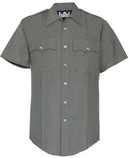 Womens Nickel Grey Short Sleeve 65/35 Poly/Rayon Deluxe Tropical Shirt-
