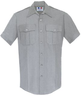 Womens Heather Grey Short Sleeve Deluxe Tactical Shirt 68/30/2 Poly/Rayon/Lycra®;-Flying Cross