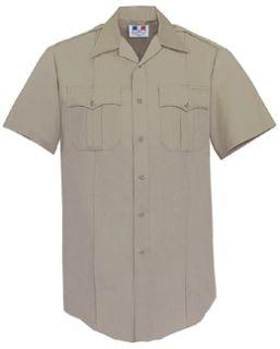 Womens Silver Tan Short Sleeve 65/35 Poly/Cotton Duro Poplin Shirt-