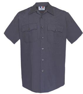 Womens Navy Blue Short Sleeve 65/35 Poly/Cotton Duro Poplin Shirt-