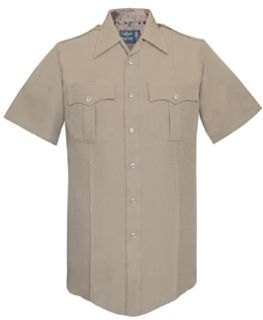 176R7804 WoMen's Silver Tan Short Sleeve Tall 100% Visa®; System 3 Polyester Shirt