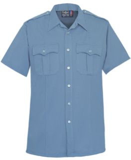 Womens Medium Blue Short Sleeve Tall 100% Visa®; System 3 Polyester Shirt-