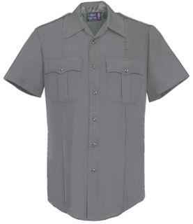 Womens Grey Short Sleeve Tall 100% Visa®; System 3 Polyester Shirt-