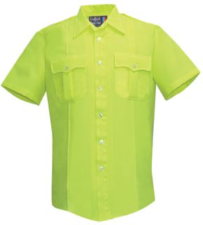 Womens Hi-Viz Yellow Short Sleeve Tall 100% Visa®; System 3 Polyester Shirt-