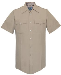 178R7804 Womens Silver Tan Short Sleeve Tall 100% Visa®; System 3 Polyester Shirt-Flying Cross