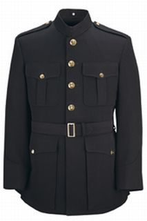 Single Breasted 100% Wool Military Officer Marine Corp Blue-