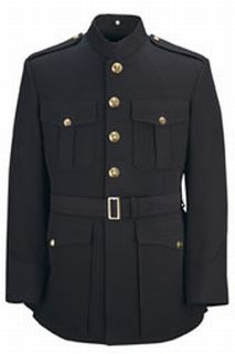 Single Breasted 55/45 Poly/Wool Military Officer Marine Corp Blue-Flying Cross