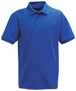 Academy Blue Power Polo Short Sleeve Shirt, 100% Cotton, Pique