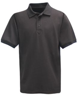 Black Power Polo Short Sleeve Shirt, 100% Cotton, Pique-Flying Cross