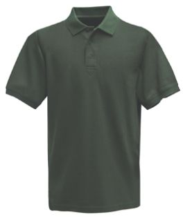 Spruce Green Power Polo Short Sleeve Shirt, 100% Cotton, Pique-