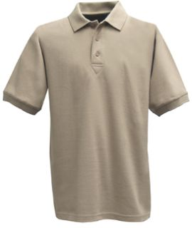 Silver Tan Power Polo Short Sleeve Shirt, 100% Cotton, Pique-