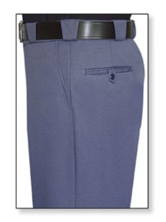 Mens French Blue T-3 Trouser, 55/45 Polyester/Wool, Elastique Weave-Flying Cross