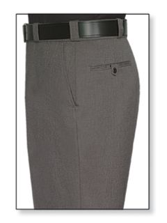 Mens Castillio Grey T-1 Trouser, 55/45 Polyester/Wool, Tropical Weave-