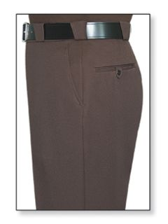 Mens Brown T-3 Elastique 100% Visa®; System 3 Polyester Trouser-