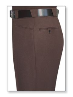 Mens Brown T-8 Trouser, 100% Visa®; System 3 Polyester, Elastique Weave-