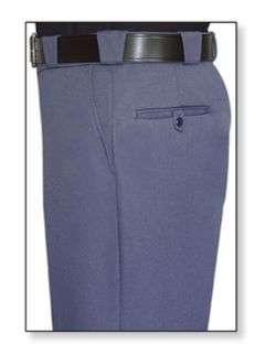 Mens French Blue T-3 Trouser, 55/45 Polyester/Wool, Tropical Weave-Flying Cross
