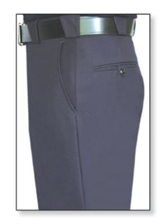 32260 Mens LAPD Navy T-3 Trouser, 55/45 Polyester/Wool, Elastique Weave-Flying Cross