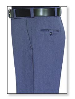 Mens Postal Blue T-1 Trouser, 55/45 Polyester/Wool, Gabardine Weave-Flying Cross