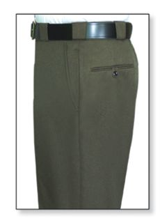 Mens Forest Green T-3 Elastique 100% Visa®; System 3 Polyester Trouser-