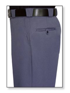 Mens French Blue T-1 Trouser, 55/45 Polyester/Wool, Gabardine Weave-