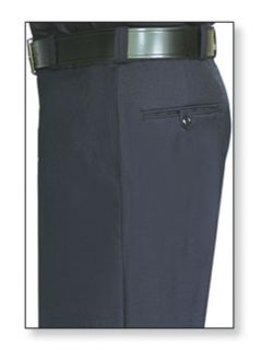 Mens Midnight Blue T-2 100% Wool Trouser, Serge Weave-