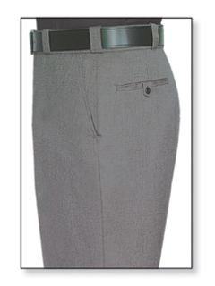 Mens Oxford Grey T-1 Trouser, 55/45 Polyester/Wool, Tropical Weave-