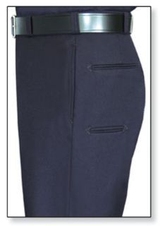 Mens LAPD Navy T-6 100% Wool Trouser, Serge Weave-