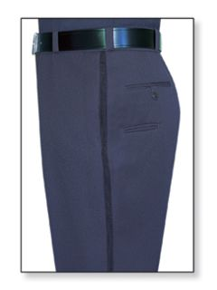 32291 Mens Navy Blue T-6 Trouser, 55/45 Polyester/Wool, Serge Weave-