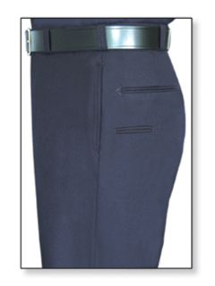 32293 Mens Navy Blue T-6 Trouser, 55/45 Polyester/Wool, Serge Weave-