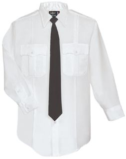 Mens White Long Sleeve Zippered Front 100% Visa®; System 3 Polyester Shirt-